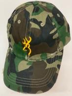 Бейсболка камуфляж Browning с вышивкой желтого цвета