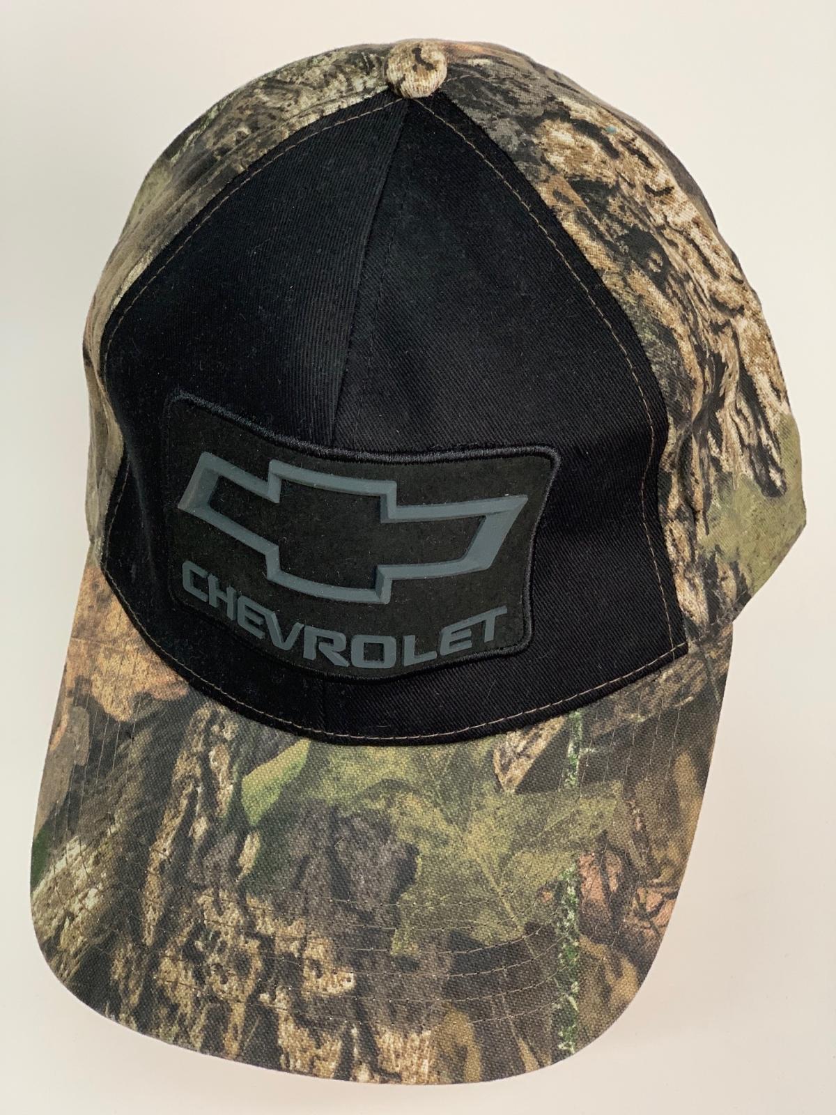 Бейсболка камуфляж Chevrolet с черной вставкой