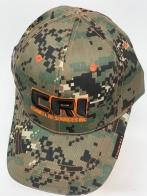Бейсболка камуфляж CRI с оранжево-черной вышивкой