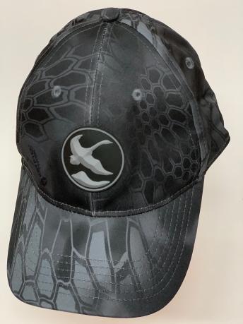 Бейсболка камуфляж Kryptek черного цвета с летящим гусем