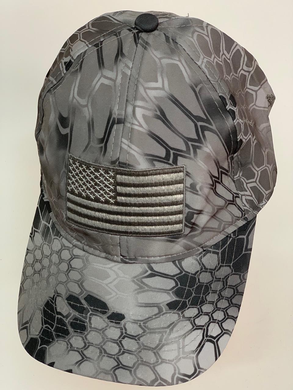 Бейсболка камуфляж Kryptek темно-серого цвета с нашивкой