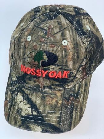 Бейсболка камуфляж Mossy Oak с красной вышивкой