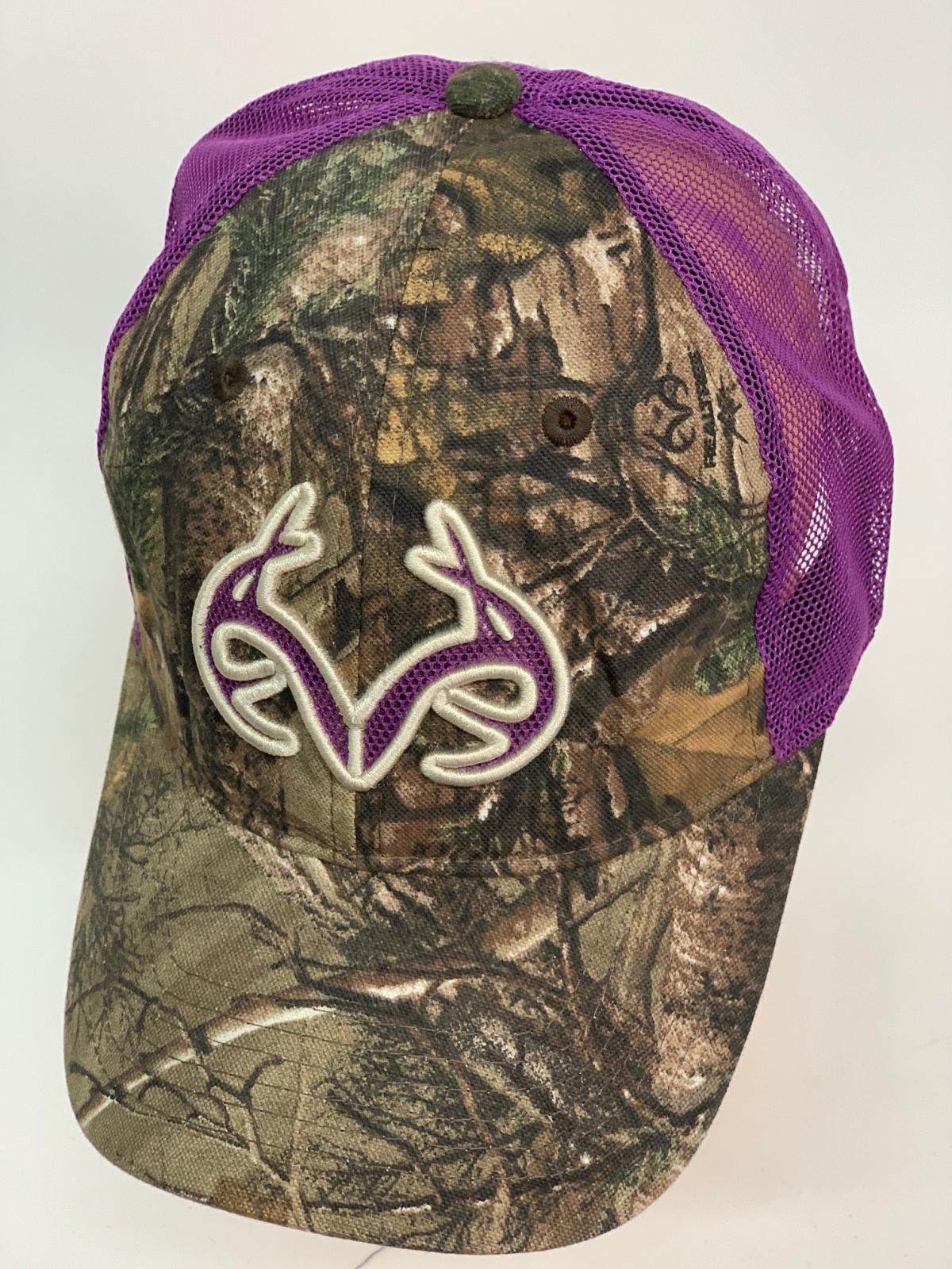Бейсболка камуфляж Realtree с фиолетовой сеткой