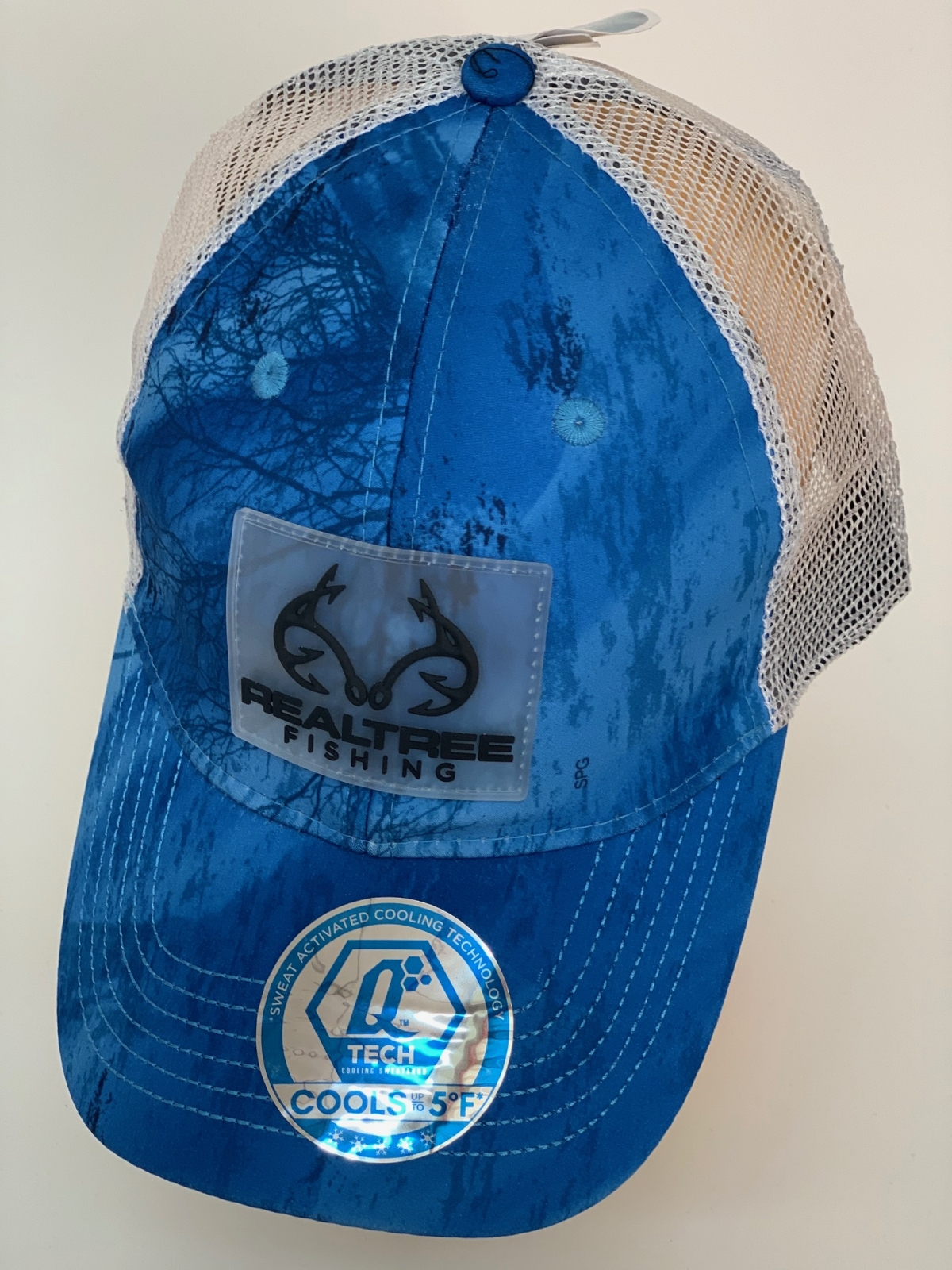 Бейсболка камуфляж Realtree синего цвета с сеткой