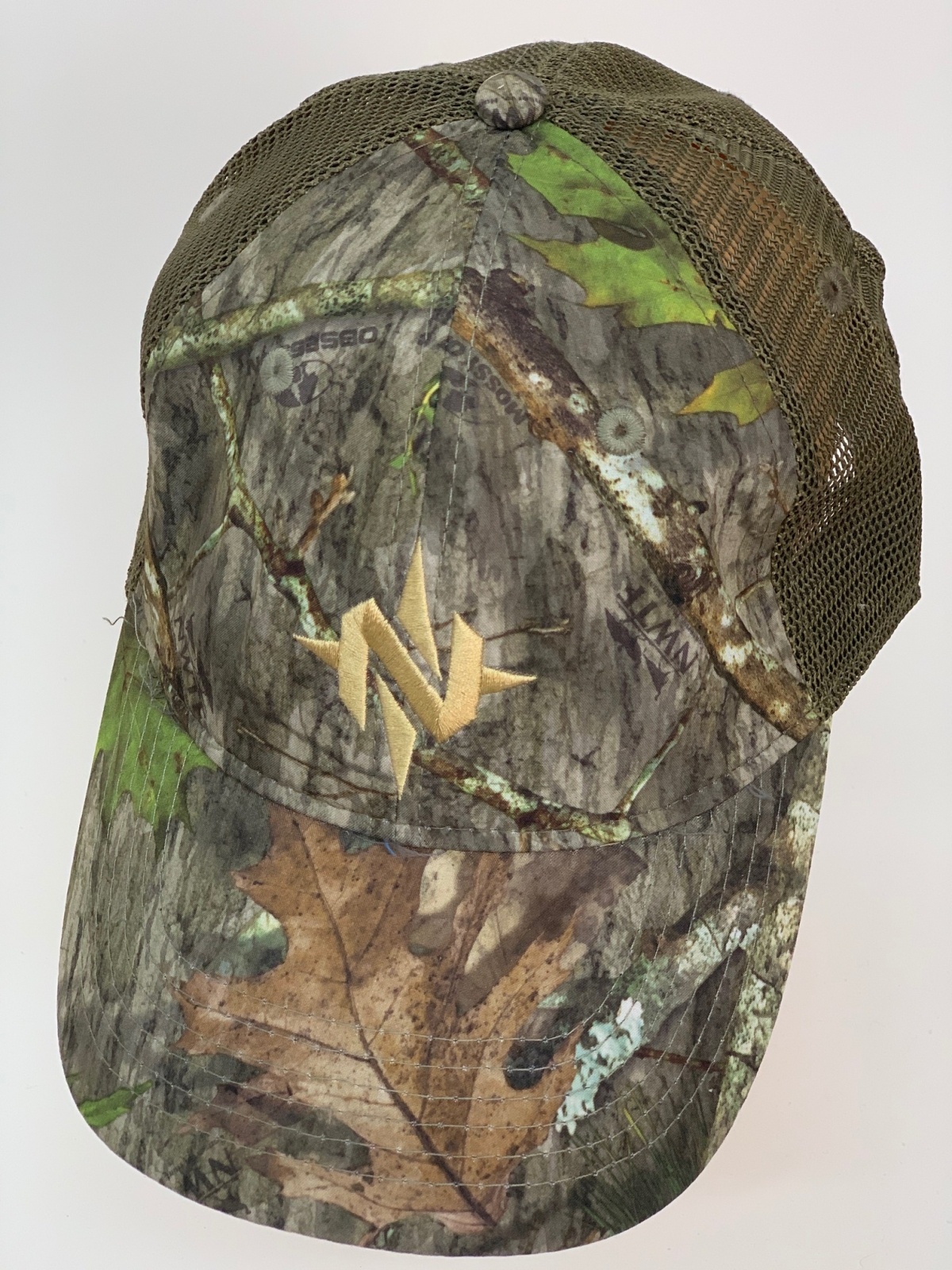 Бейсболка камуфляж с оливковой сеткой