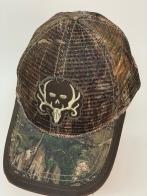Бейсболка камуфляж с вышитым оленьим черепом