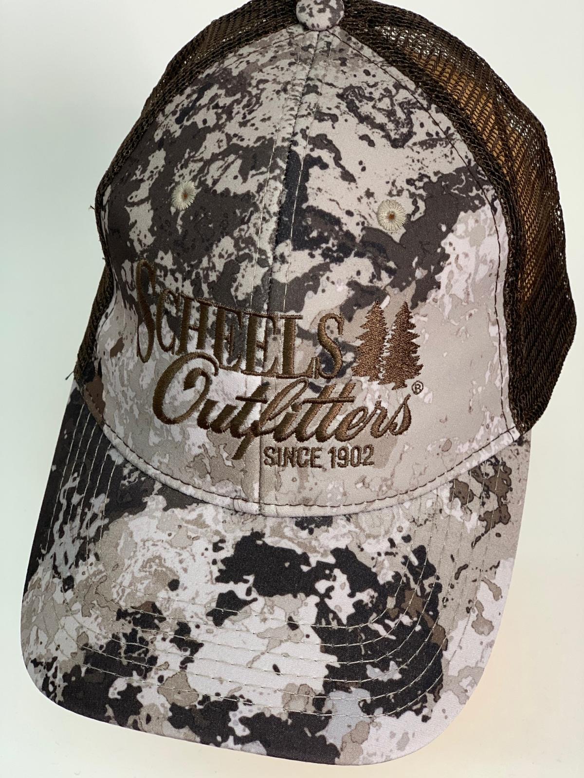 Бейсболка камуфляж Scheels Outlitters с коричневой сеткой
