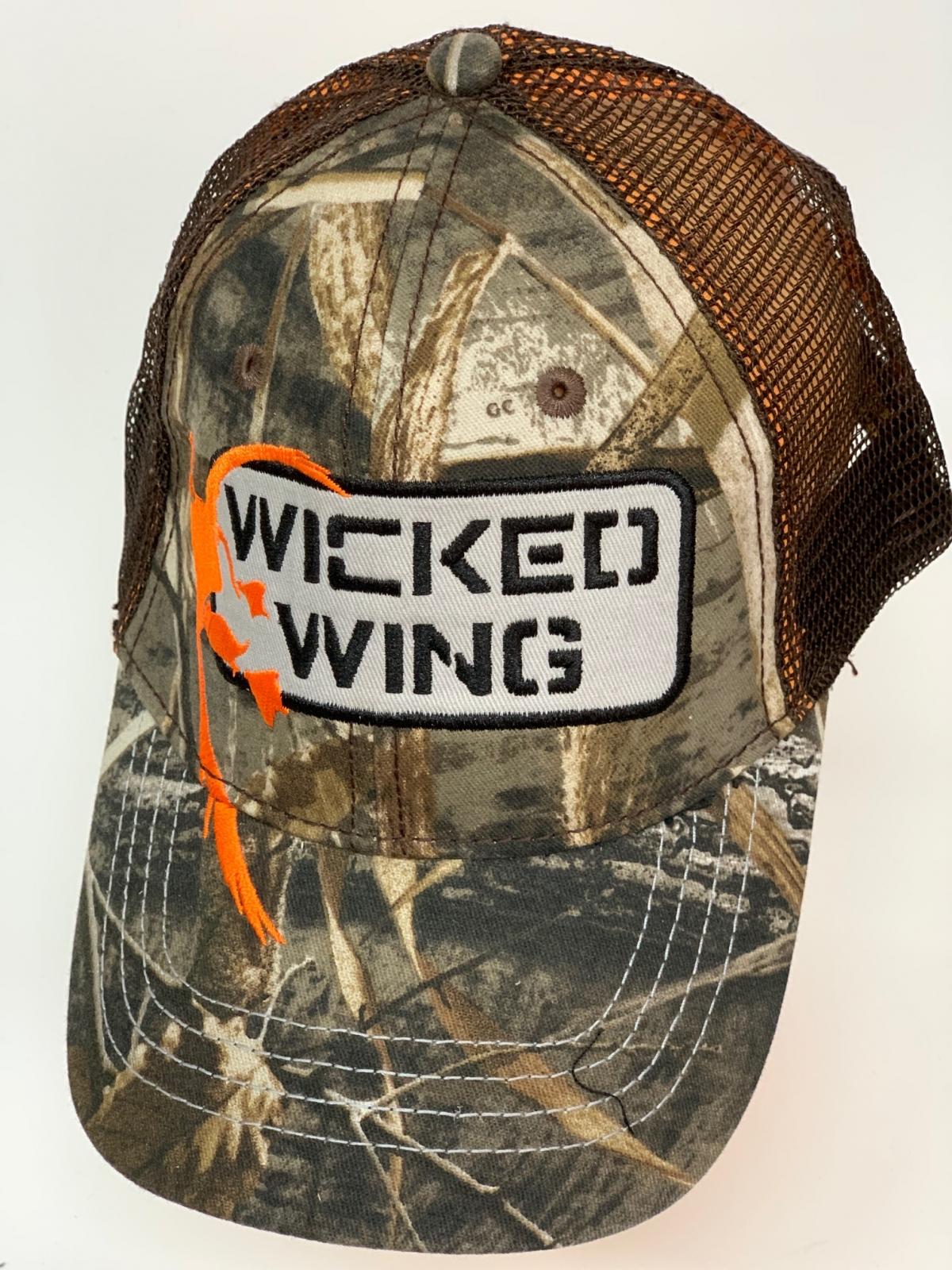 Бейсболка камуфляж Wicked Wing с коричневой сеткой