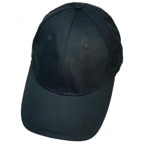 Бейсболка классического кроя глубокого черного цвета