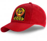 Бейсболка красная Рожден в СССР