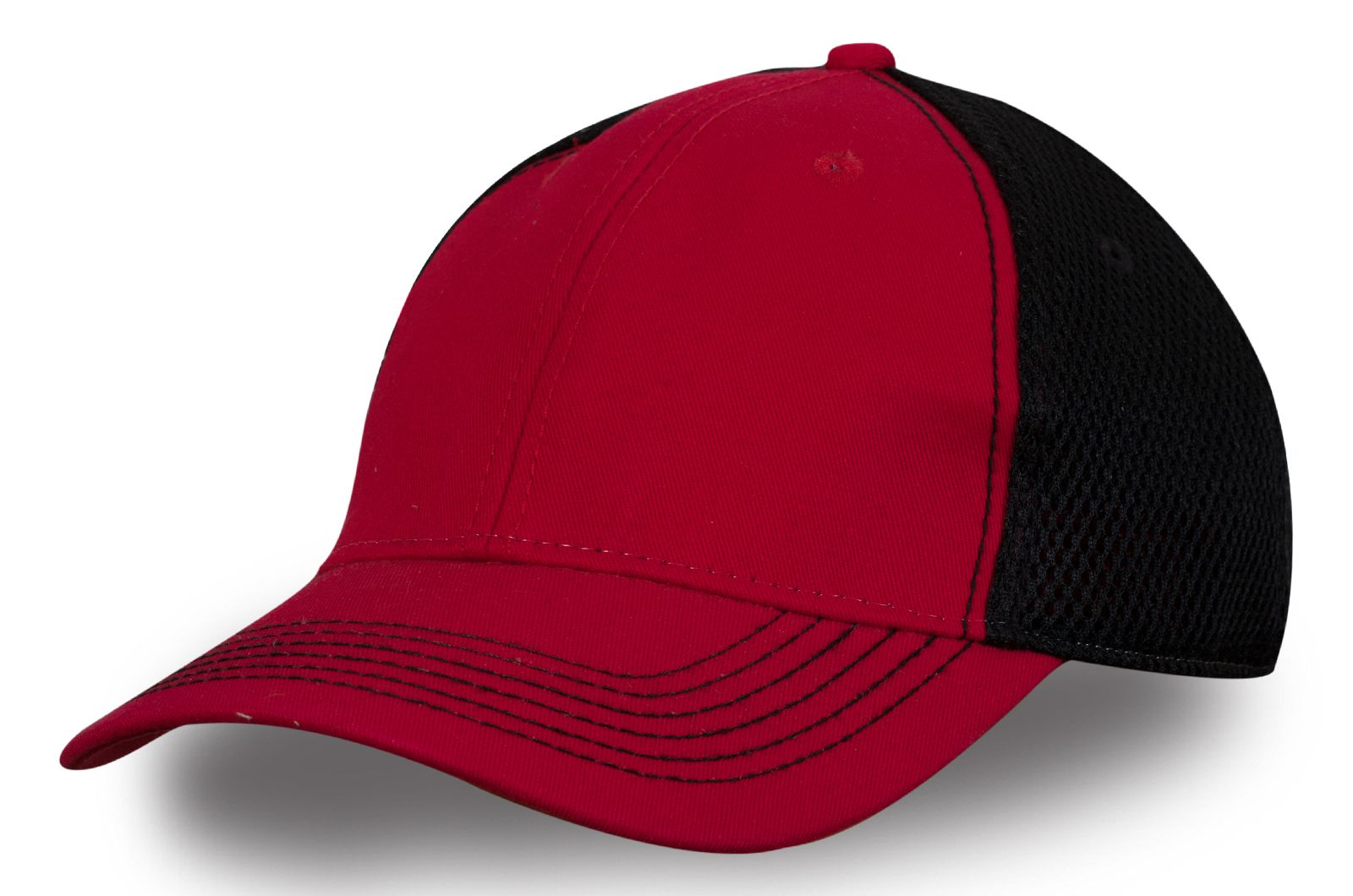 Бейсболка красно-черная