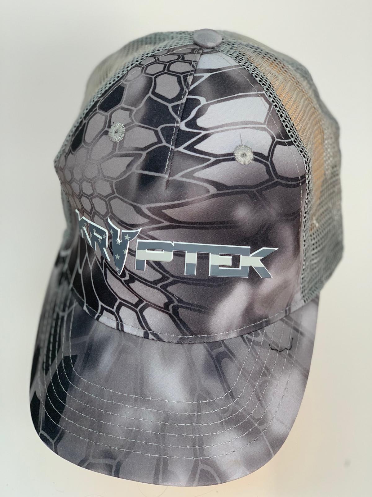 Бейсболка Kryptek серого цвета с сеткой