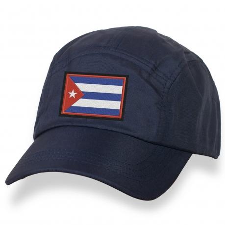 Модная бейсболка с вышитым флагом Кубы