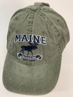 Бейсболка Maine с вышитым черным лосем
