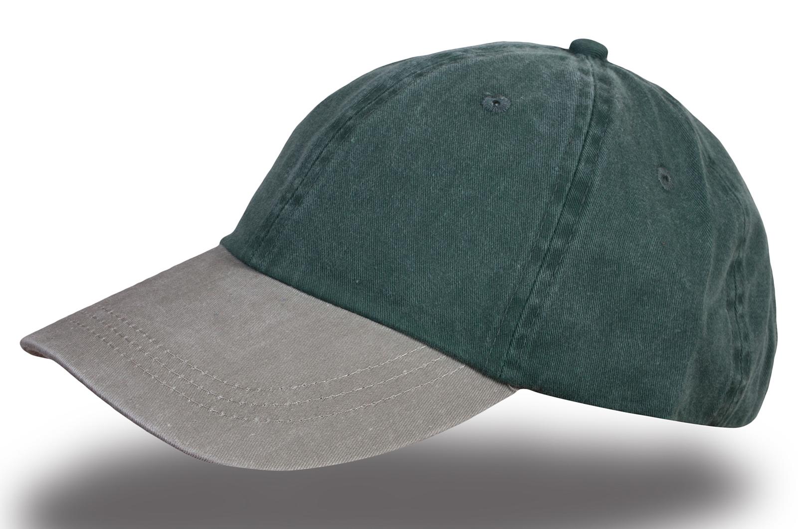 Бейсболка меланж серо-зеленая - купить в интернет-магазине с доставкой