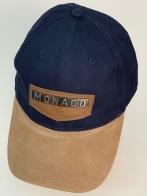 Бейсболка Monaco с металлической накладкой на кожаной нашивке