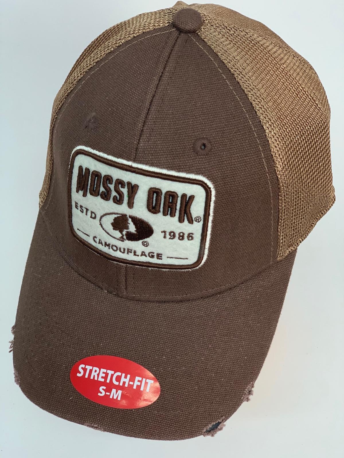 Бейсболка Mossy Oak коричневого цвета с бежевой сеткой