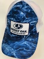 Бейсболка Mossy Oak синий камуфляж с белой сеткой