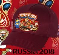 Вишневая унисекс бейсболка «Моя Россия»