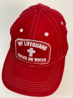Бейсболка My Lifeguard красного цвета с белой вышивкой