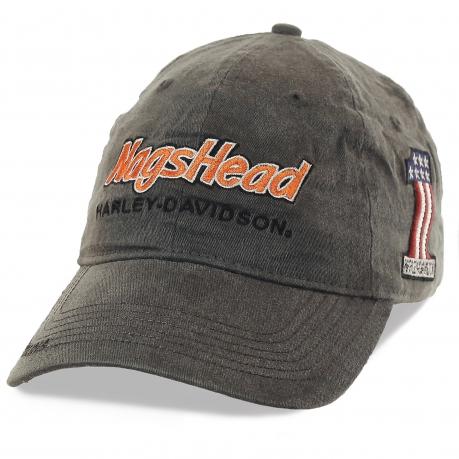 Бейсболка Nags Head Harley Davidson – модель для влюбленных в скорость и свободу! Кепка аккуратно облегает голову, а графитовый цвет подходит под любой стиль одежды