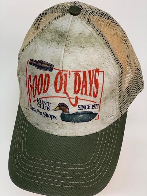 Бейсболка охотнику Good ol days со стилизованным принтом