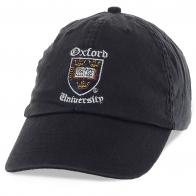 Бейсболка черного цвета с эмблемой Оксфордского университета