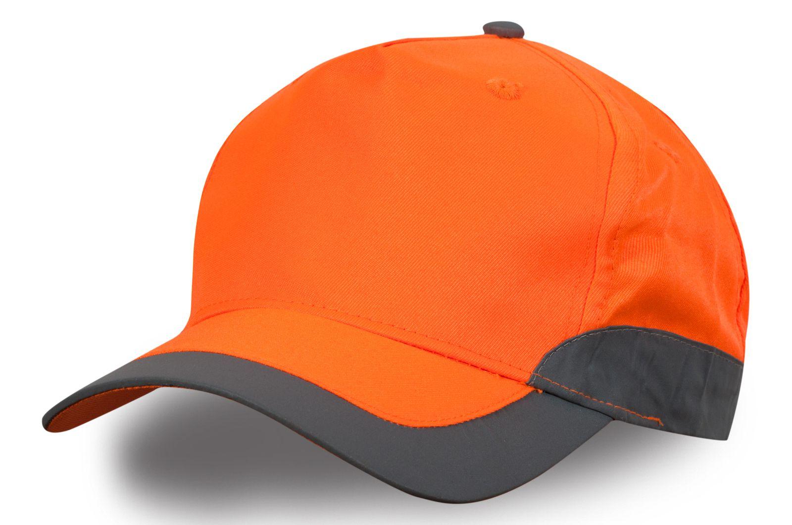 Бейсболка оранжевая с кантом