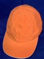 Бейсболка оранжевого цвета с отверстиями для перфорации