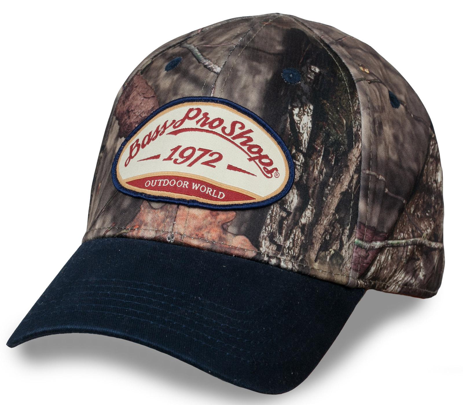 Бейсболка от известного рыболовного бренда из США Bass Pro Shops. Рыбаки профессионалы и любители - это точно для вас.