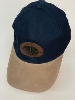 Бейсболка Paris синего цвета с металлической накладкой