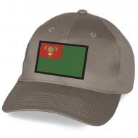 Бейсболка подарочная с вышивкой Пограничного флага СССР.