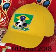 Бейсболка с футбольным принтом BRAZILIAN