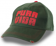 Зеленая бейсболка с любимым выражением жителей Коста-Рики! Pura vida, amigos, Pura vida!