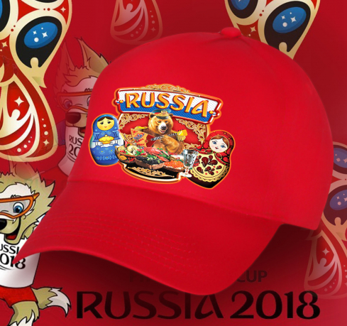 Бейсболка RUSSIA с принтом