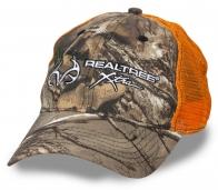 Камуфляжная бейсболка Realtree Xtra с оранжевой сигнальной сеткой