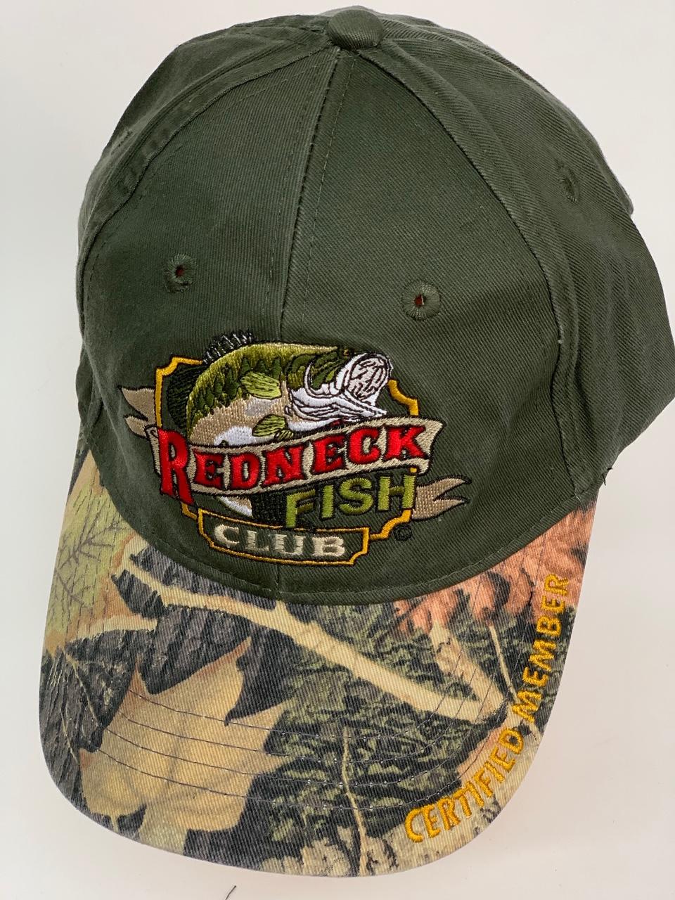 Бейсболка Redneck Fish Club с камуфляжным козырьком