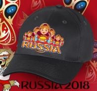 Бейсболка «РОССИЯ» с матрёшками
