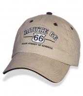 Бежевая мужская бейсболка «ROUT 66».