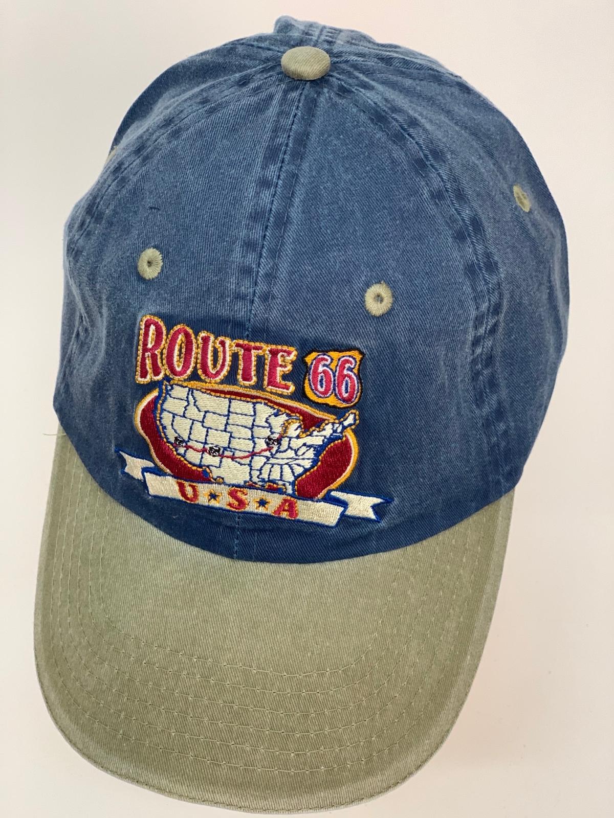 Бейсболка Route 66 из джинсовой ткани