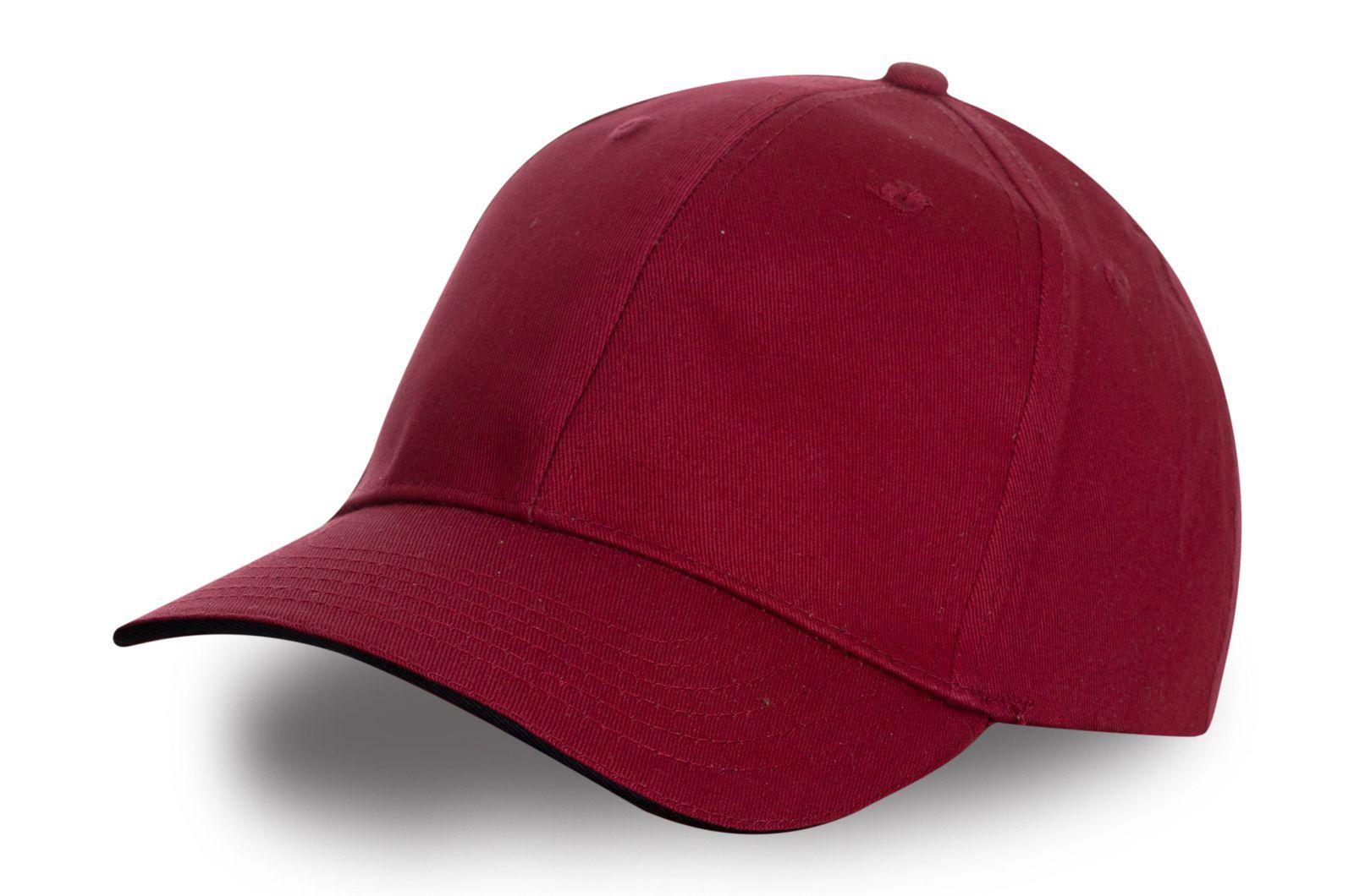 Бейсболка рубиновая | Заказать модную бейсболку