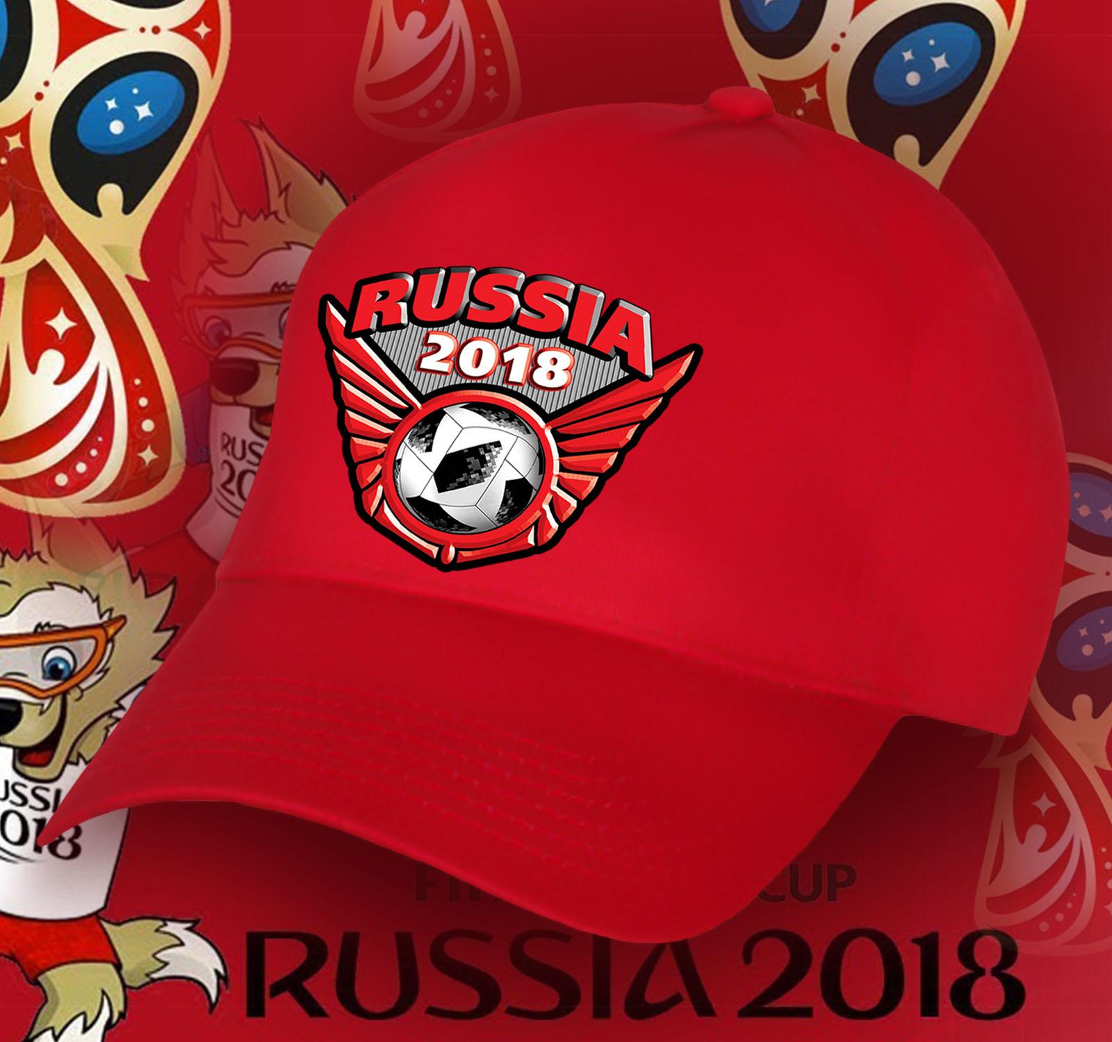 Бейсболка Russia красного цвета