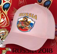 Нежно-розовая бейсболка для Русской Патриотки