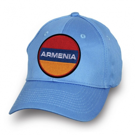 Бейсболка с флагом Армении вышитым на тулье