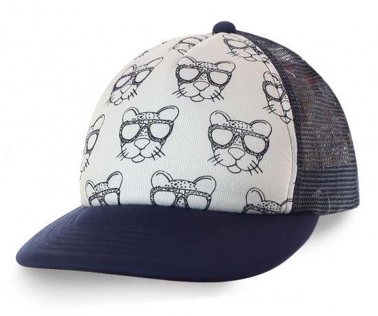 Бейсболка с гепардом в очках для людей, уверенных в себе. Прояви характер!
