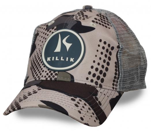Одна из последних новинок сезона! Летняя бейсболка с прорезиненным логотипом KILLIK – продуманная сетка-вентиляция, мужской дизайн, регулятор размера