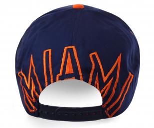 Бейсболка с логотипом бейсбольной команды университета Miami Hurricanes - универсальный размер, качественный пошив