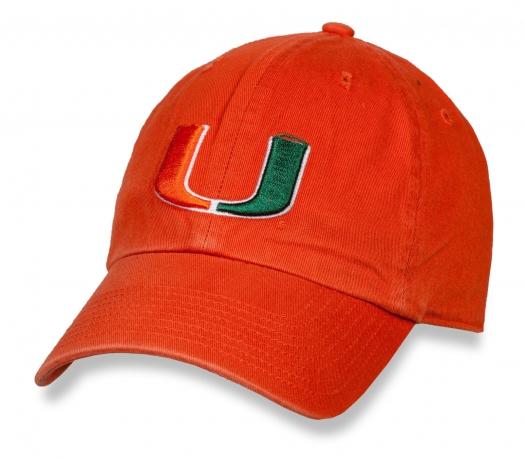 Бейсболка с логотипом Miami Hurricanes
