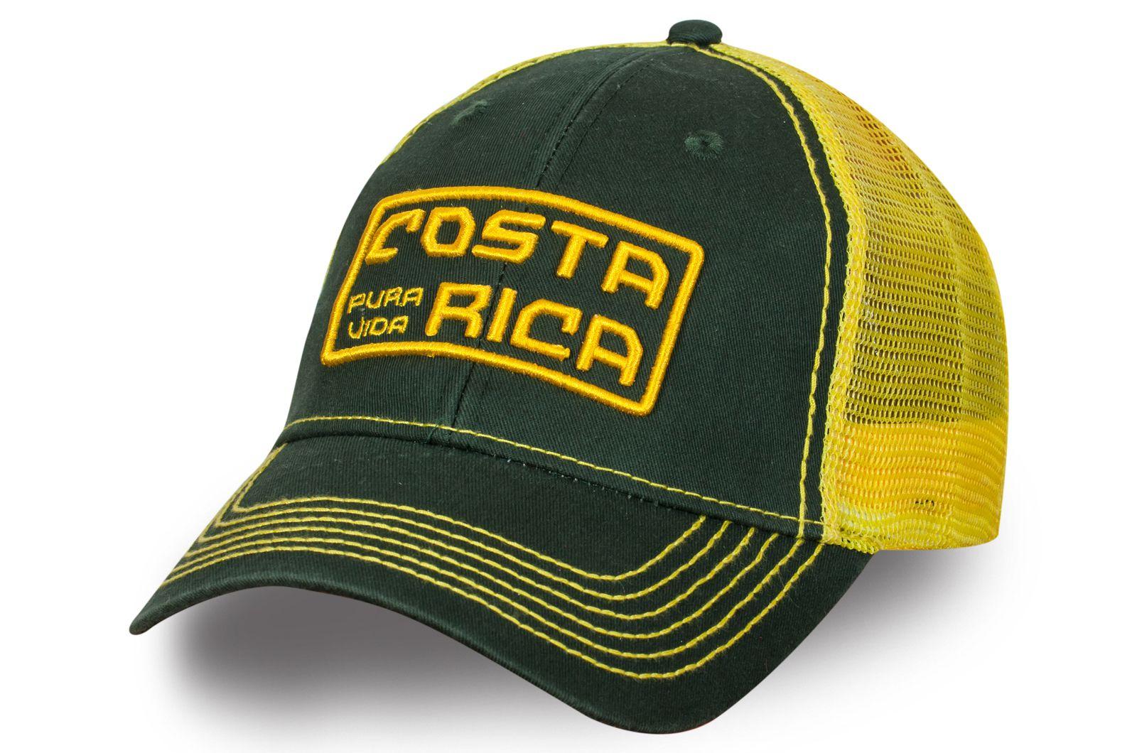 Бейсболка с надписью Costa Rica - купить онлайн с доставкой
