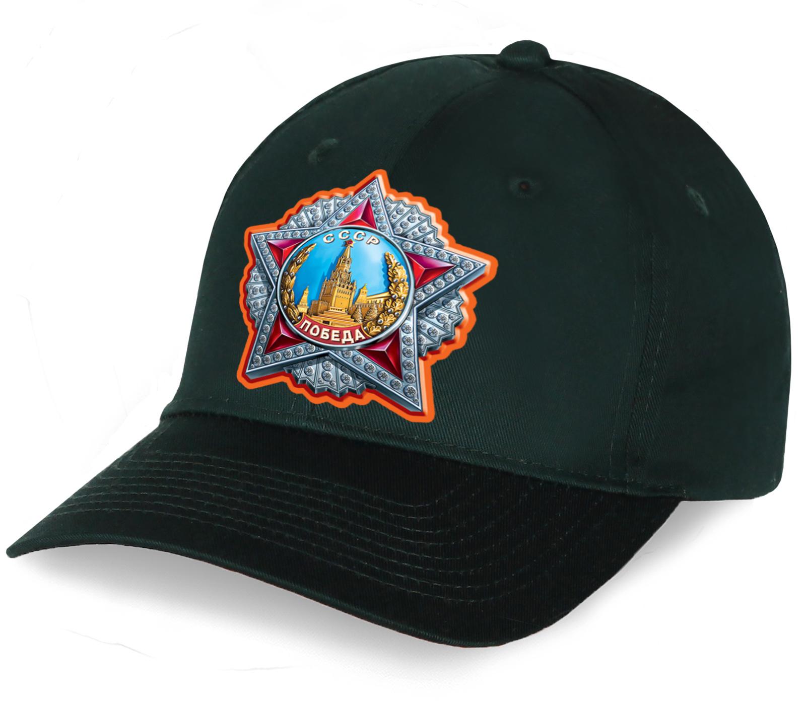 Темно-зеленая бейсболка с Орденом Победы